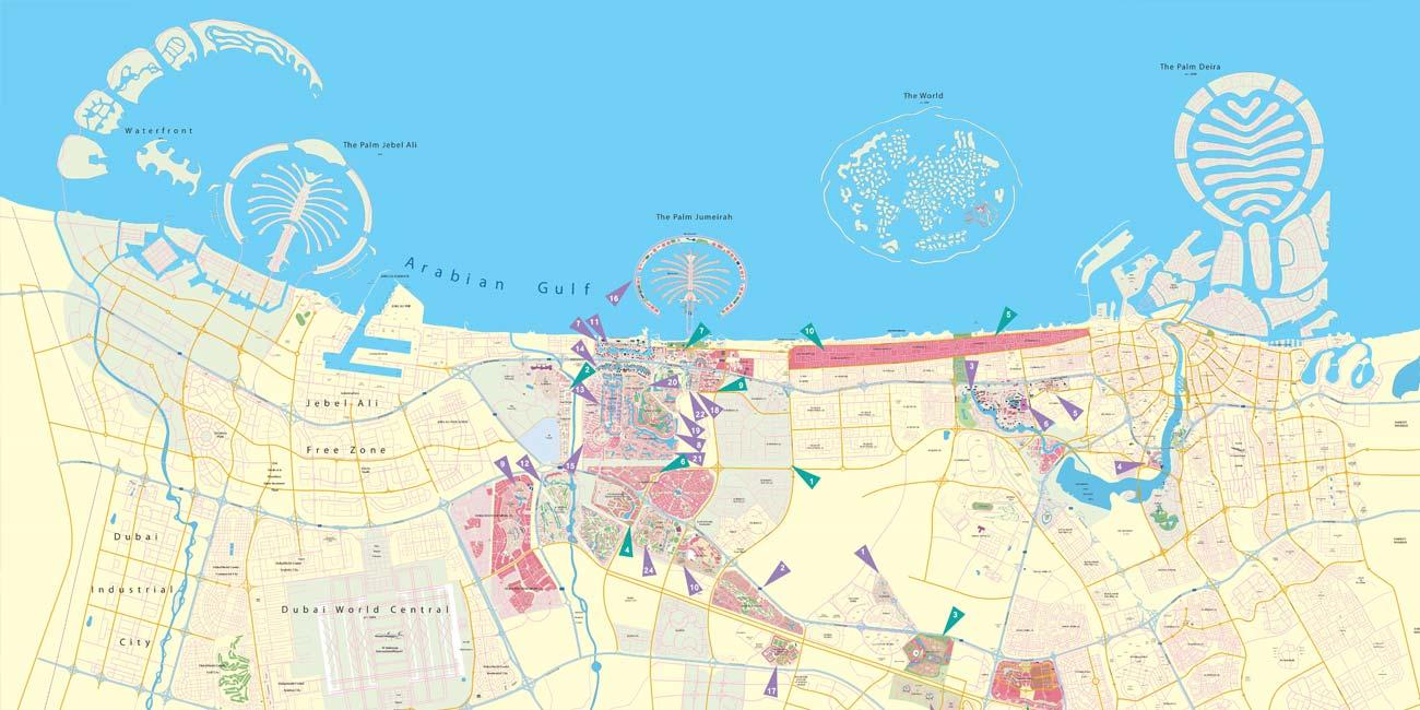 Where is Dubai on the World Map